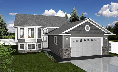 Custom home design home plans dmd architectural drafting for Bi level home plans with garage