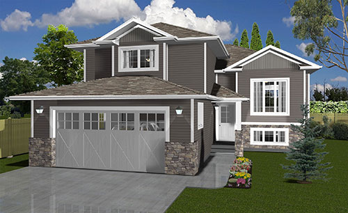 Custom home design home plans dmd architectural drafting Modified bi level plans