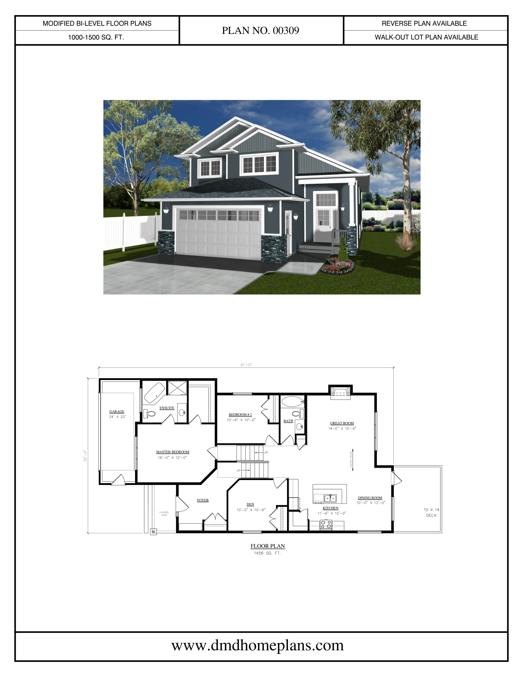 Modified bi level house plans escortsea for Modified a frame house plans