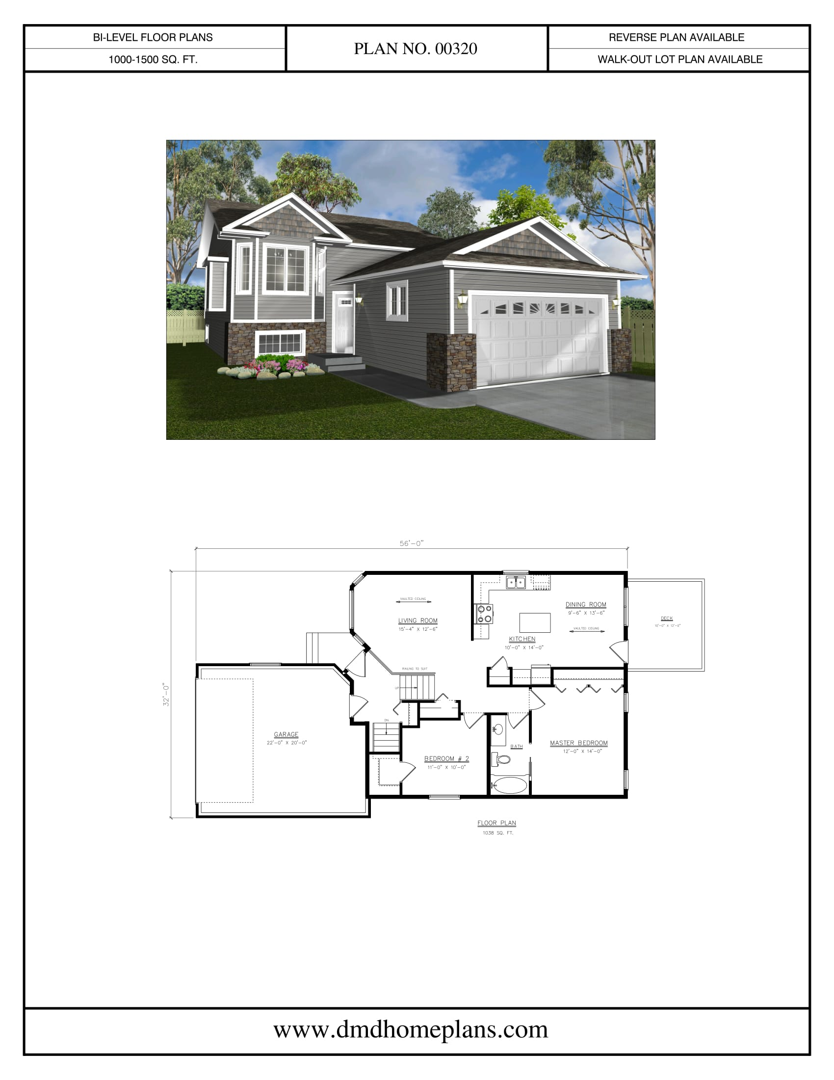 Bi level plans with garage dmd home plans Bi level house plans with garage