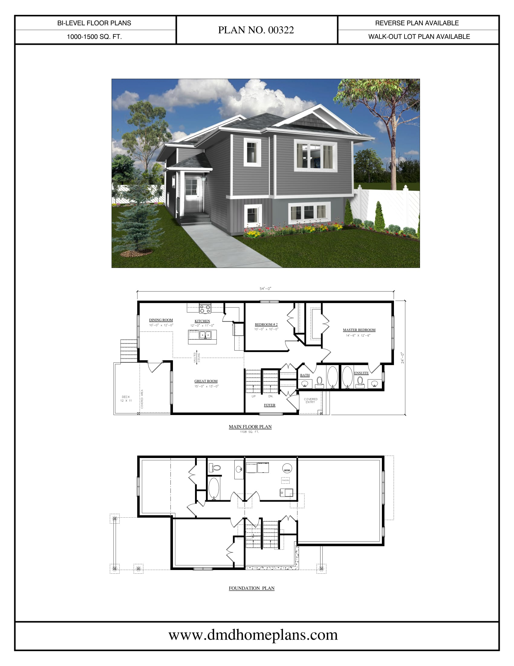 Bi level plans dmd home plans for Bi level home designs